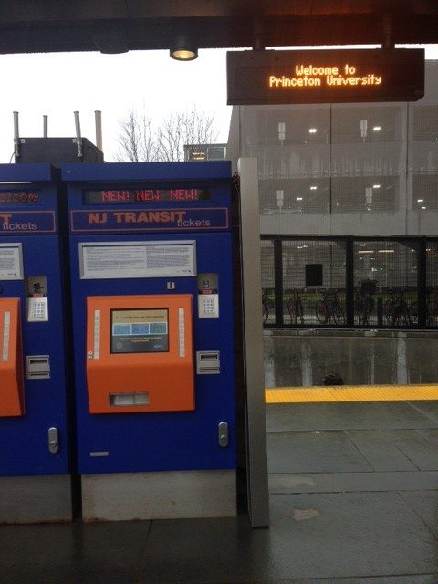Ticket machines at the new Dinky station. Photo: Amy Banner.