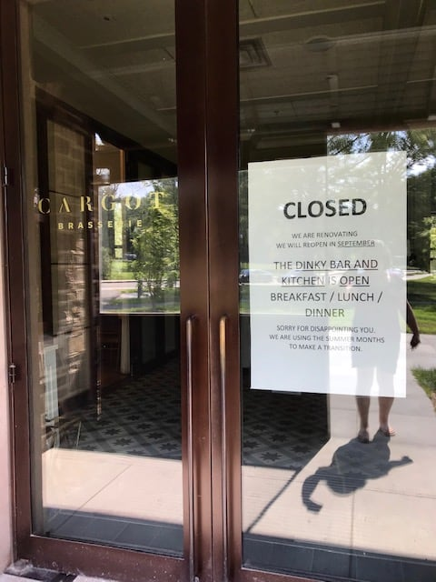 Cargot Brasserie closed for renovations, slated to become a steakhouse